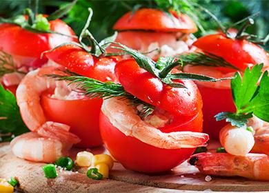Фаршированные помидоры в духовке с мясным