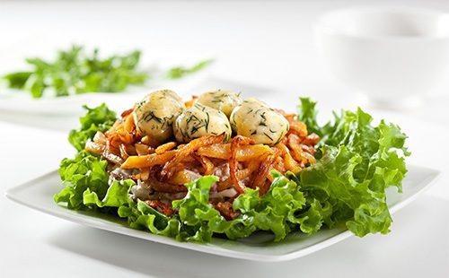 Гнездо грухаря - праздничный салат