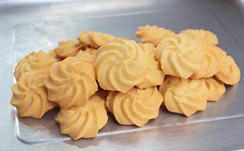 Круглое песочное печенье