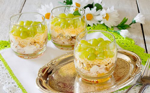 """Салат """"Тиффани"""" в стаканах"""