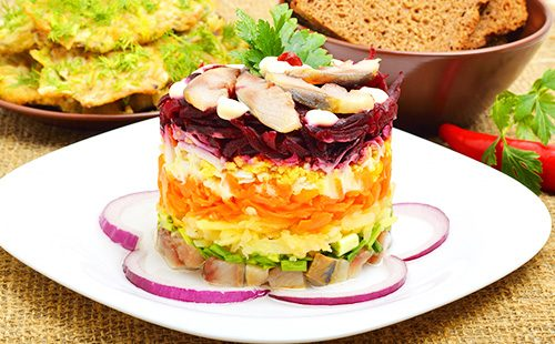 Селедка под шубой салат